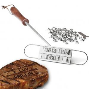 Personalise your barbecue with this customisable branding iron