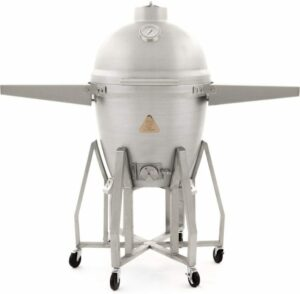 "Blaze 20"" Aluminum Freestanding Kamado with Shelves"