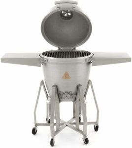 Blaze Freestanding Kamado with Shelves Open
