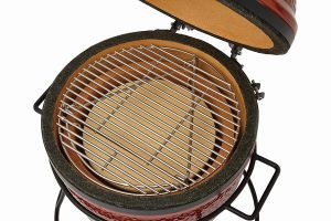 Kamado Joe Jr hinged stainless steel grate
