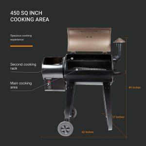 Z Grills ZPG-450A Size