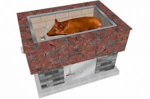 BrickWood Box Smoker Grill
