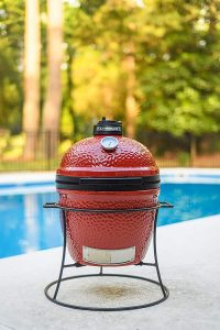 Kamado Joe Jr by the pool