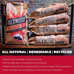 Rockwood All-Natural Hardwood Lump Charcoal Renewable, Recycled