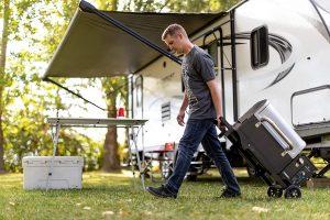 Camp Chef Pursuit Portable Pellet Grill Folded