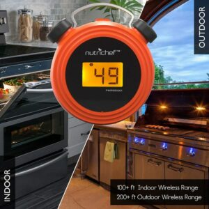 NutriChef Smart Bluetooth Meat Thermometer Range