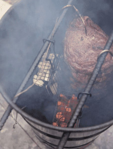 Pit Barrel Cooker Junior In Use